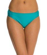 Beach Diva Solid Shirred Hipster Bottom