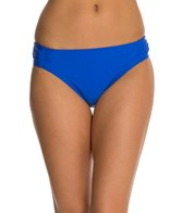 Beach Diva Solid Shirred Hipster Bottom