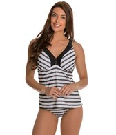 Maidenform Beach Mesh Stripe Underwire D/DD/E Tankini Top