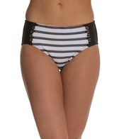 Maidenform Beach Mesh Stripe High Waist Bottom