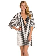 Maidenform Beach Mesh Stripe Cover Up