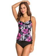Beach House Breast Cancer Awareness Twist Bra Tankini Top