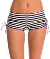 Reebok Sano Olivia Striped Side Shirred Boyshort