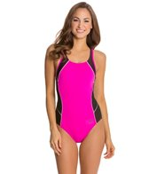 Speedo Fitness Mesh Contrast Thick Strap One Piece