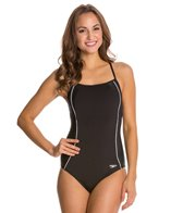 Speedo Fitness Mesh Contrast Thin Strap One Piece