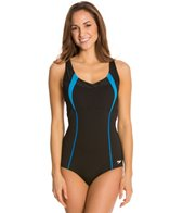 Speedo Comfort Strap One Piece w/ Mesh