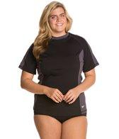 Speedo Women's Endurance S/S Plus Size Rashguard