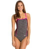 Speedo Fitness Space Dye Thin Strap One Piece