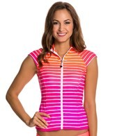 Seafolly Miami Stripe Zip Front Rashguard
