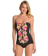 Seafolly Romeo Rose Zip Front Maillot One Piece