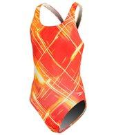 Speedo Endurance Lite Solar Strobe Youth Recordbreaker One Piece Swimsuit