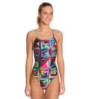 Speedo Color Shards Flyback One Piece Swimsuit