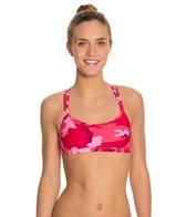 Sporti Modern Camo Double Cross Workout Bikini Top
