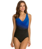 Longitude Brian's Ombre Wrap Front Tank One Piece