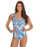 Longitude Royal Scroll Crossback Tank One Piece