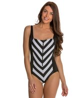 Longitude All Lined Up Squareneck Tank One Piece