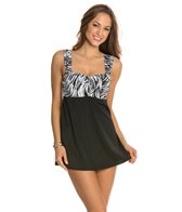 Longitude Brush Strokes Swimdress