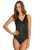 Longitude Gold Rush Side Shirred One Piece