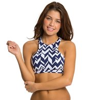 Jag Maldives Stripe Reversible Racerback Bra Top
