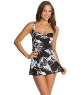 Gabar Bayou Blossom Twist Front Swim Dress