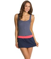 Beach House Ship Shape Stripe Tank Skort Dress