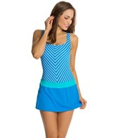 Beach House Ship Shape Stripe Tank Swimdress