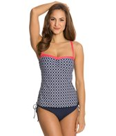 Beach House Castaway Geo Underwire Tankini Top