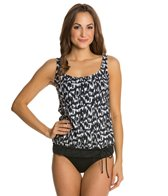 Beach House Ocean Breeze Blouson Tank Bikini Top