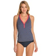 Beach House Skipper Stripe Racerback Tankini Top