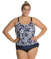 Beach House Plus Myrtle Beach Side Tie Blouson Tankini Top