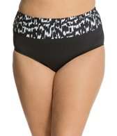 Beach House Plus Ocean Breeze Fold Over High Waist Bottom