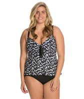 Beach House Plus Ocean Breeze Adjustable Tankini Top
