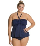 Beach House Plus Solid Fly Away Tankini Top
