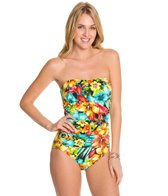 Penbrooke Hot Tropics Tie Back Keyhole Bandeau One Piece