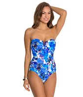 Penbrooke Cool Hues V Wire Bandeau One Piece