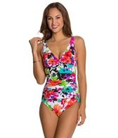 Penbrooke Spring Blooms Twist Bodice Mio One Piece