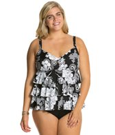 Penbrooke Plus Size Sunflower Triple Tier Top