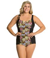 Penbrooke Plus Size Piccadilly Girl Leg One Piece