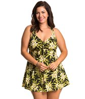 Penbrooke Plus Size Amalfi Bow Front Swimdress