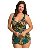 Penbrooke Plus Size Raindance Cross Over Sarong One Piece