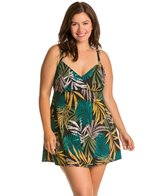 Penbrooke Plus Size Raindance V-Neck Swimdress