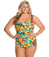 Penbrooke Plus Size Hot Tropics Glam Girl Leg One Piece