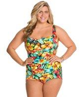 Penbrooke Plus Size Hot Tropics Glam Girl Leg One Piece