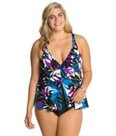Penbrooke Plus Size Matisse Fly Away Fauxkini One Piece
