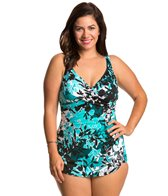 Penbrooke Plus Size Barcelona Cross Over Sarong One Piece