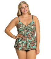 Penbrooke Plus Size Mayan Riviera Twist Top