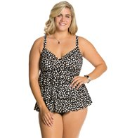 Penbrooke Plus Size Dots At Play Triple Tier Fauxkini One Piece