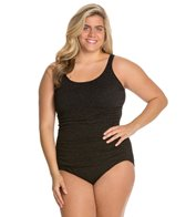 Penbrooke Plus Size Krinkle Empire Mio One Piece
