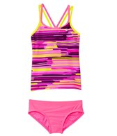 Nike Girls' Frequency Spiderback Tankini Set (7-14)