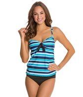 South Point Desert Spring Stripe Double Strap Tankini Top
